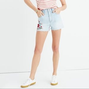 MADEWELL Embroidered Jean Shorts